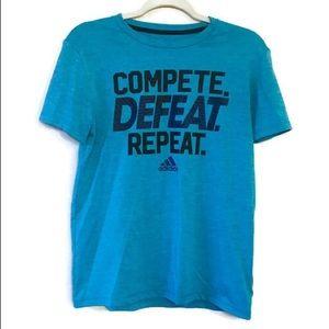 Adidas Climalite Quick Dry Blue Shirt size 14/16